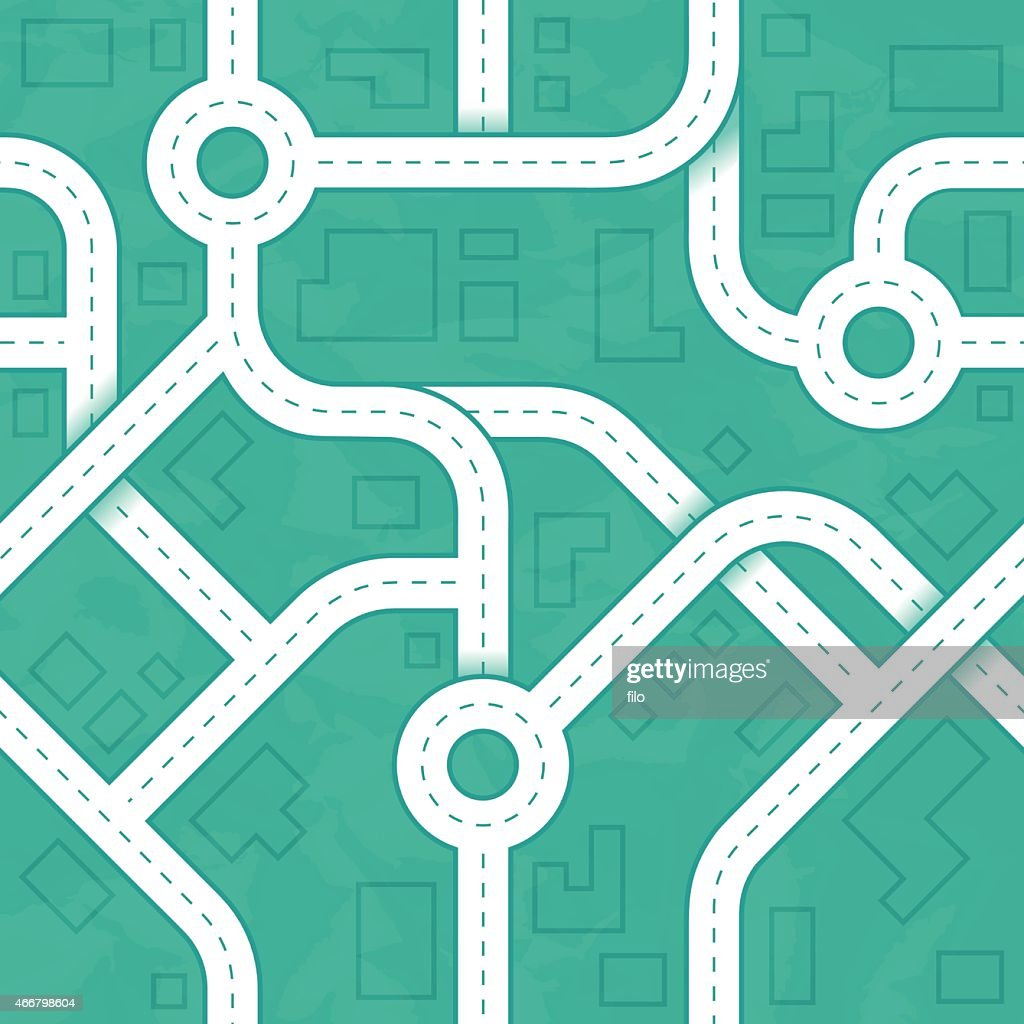Seamless Road and City Background : stock illustration