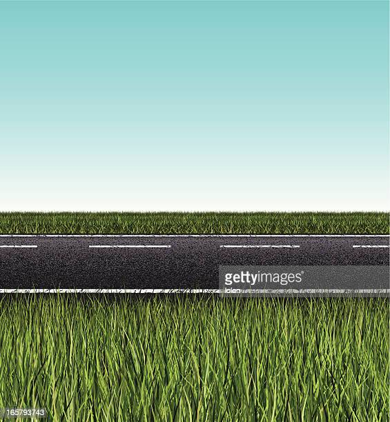 seamless road banner - country road stock illustrations