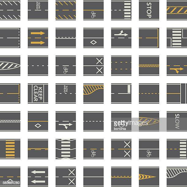 Seamless Road Construction Tiles Kit - Overhead Perspective