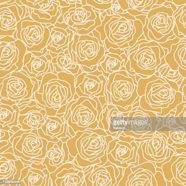 seamless rose wallpaper - rosa stock illustrations