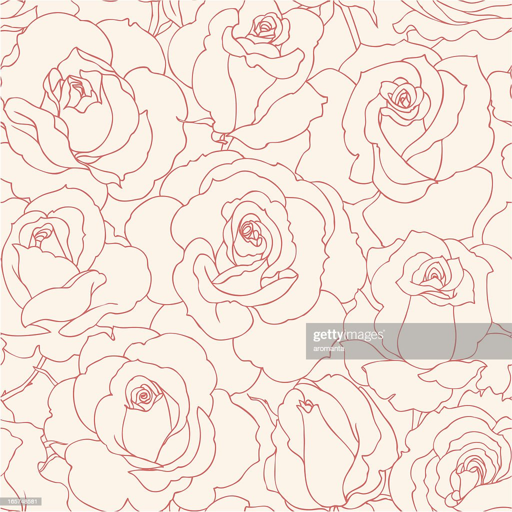 seamless roses : stock illustration