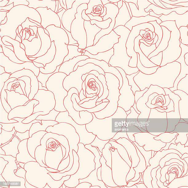 seamless roses - floral pattern stock illustrations