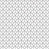 Seamless rounded triangle pattern background