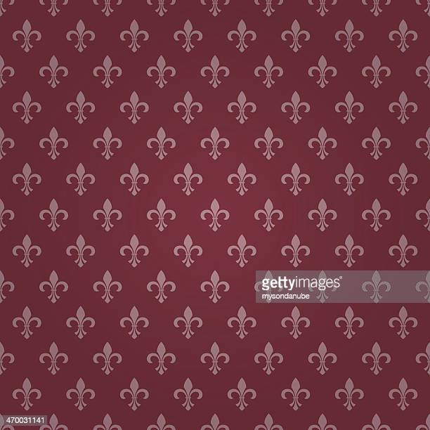 stockillustraties, clipart, cartoons en iconen met seamless royal lily wallpaper - koningschap