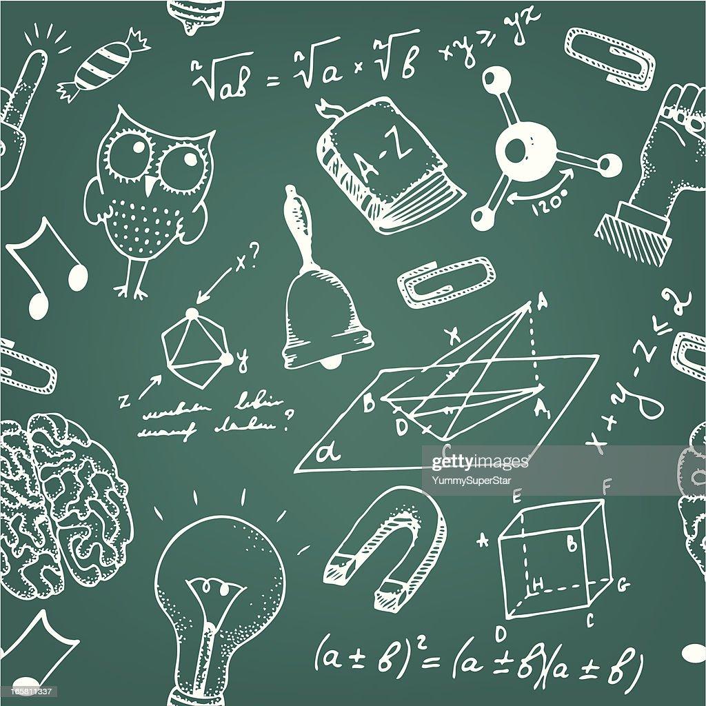 Seamless school blackboard pattern