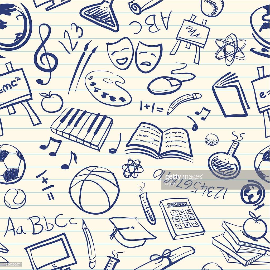 Seamless school wallpaper background : stock illustration