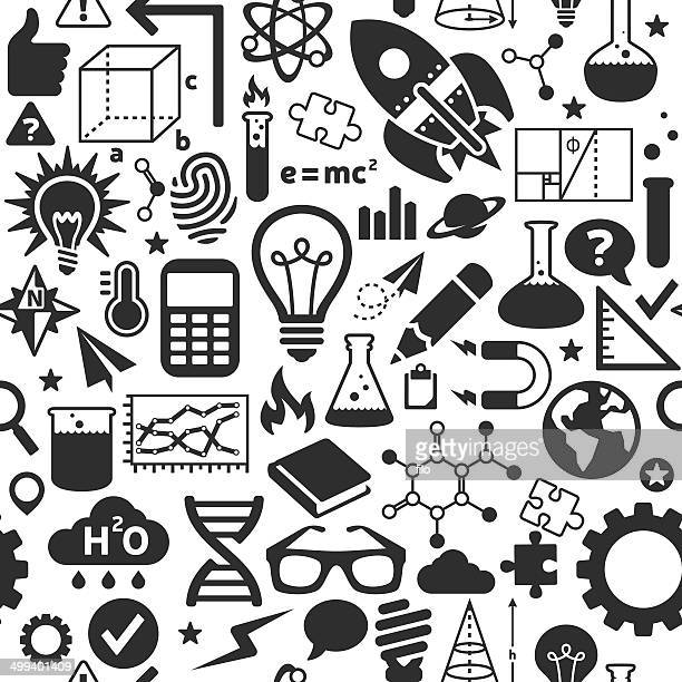 seamless science background - protractor stock illustrations, clip art, cartoons, & icons