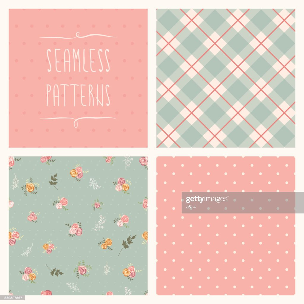 Seamless set : stock illustration