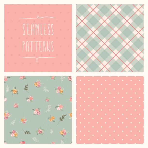 seamless set - femininity stock illustrations