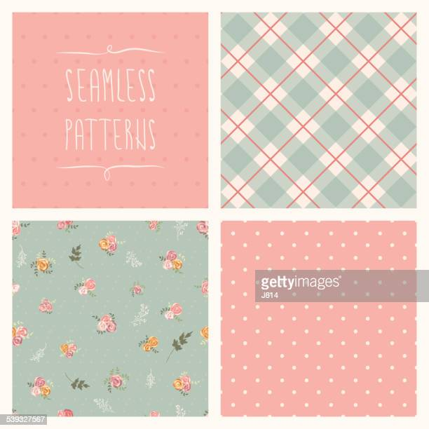 seamless set - textile industry stock illustrations