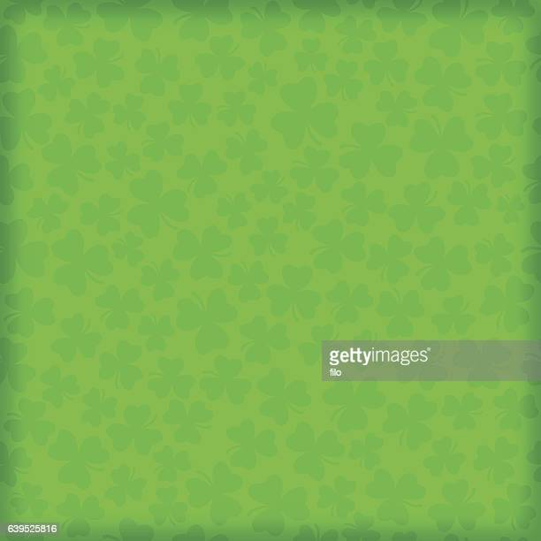 seamless shamrock clover green background - st. patrick's day stock illustrations, clip art, cartoons, & icons