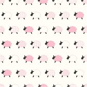 seamless sheep pattern