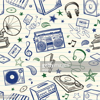 Seamless sketchy music background