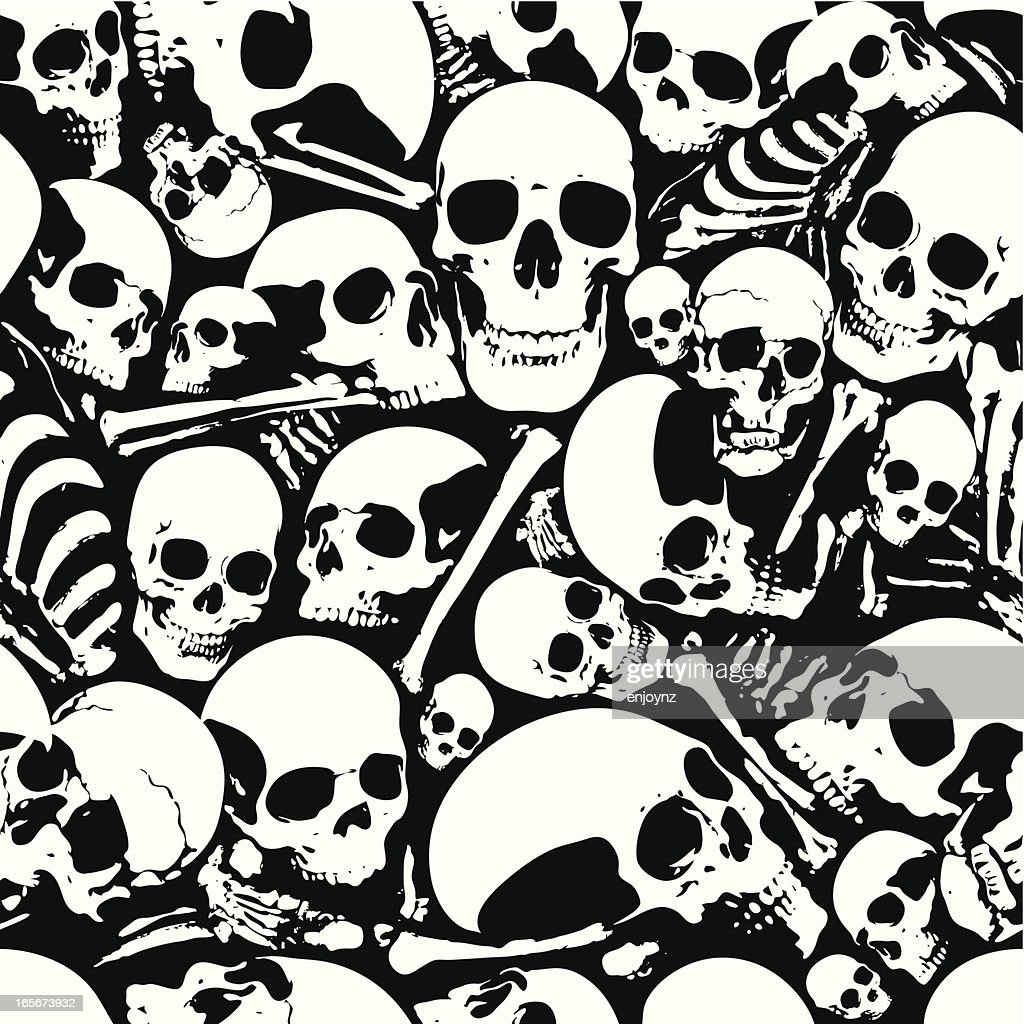Seamless Skull Wallpaper Background High Res Vector Graphic