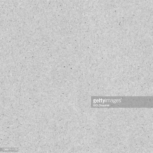 illustrazioni stock, clip art, cartoni animati e icone di tendenza di carta riciclata grigia inquinata liscia senza soluzione di continuità - piastrelle di cemento in vettore con componenti visibili - sfondo di carta pieno di macchie di punti scolorimenti - struttura grezza e dura - calcestruzzo