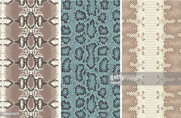 seamless snakeskin #2 - animal scale stock illustrations, clip art, cartoons, & icons