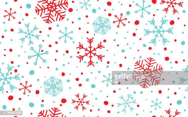 seamless snowflake background - blizzard stock illustrations