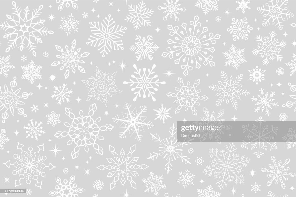 Seamless snowflake background : Stock Illustration