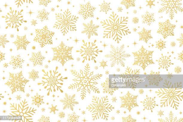 ilustrações de stock, clip art, desenhos animados e ícones de seamless snowflake background - ninguém