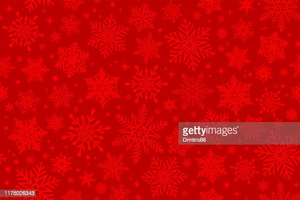 seamless snowflake background - red stock illustrations