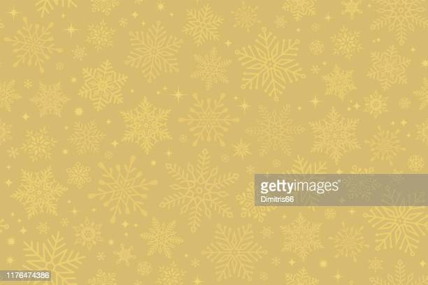 seamless snowflake background - christmas paper stock illustrations