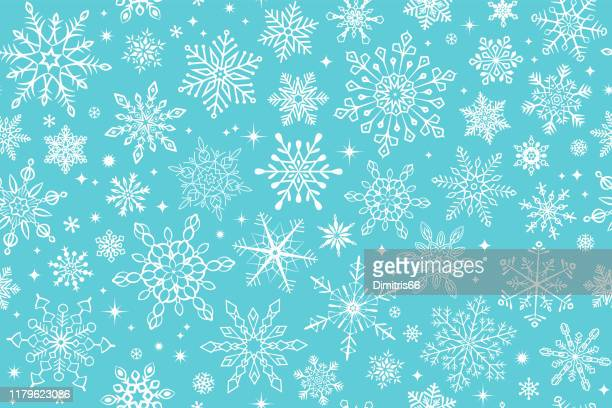 seamless snowflake background - turquoise colored stock illustrations