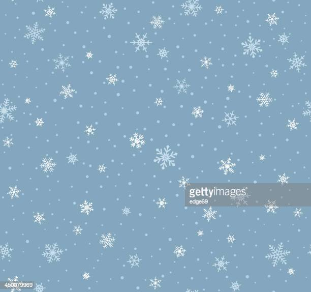 seamless snowflake pattern - snow stock illustrations