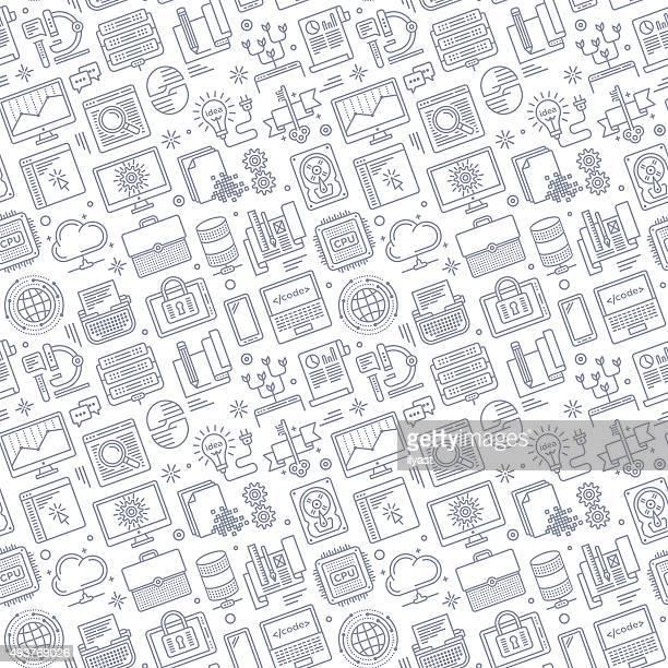 seamless software pattern - hard drive stock illustrations, clip art, cartoons, & icons