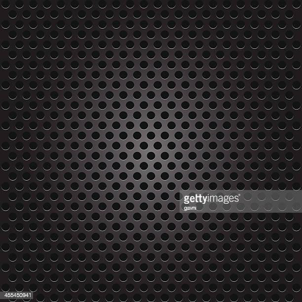 seamless   speaker grille - chrome stock illustrations, clip art, cartoons, & icons