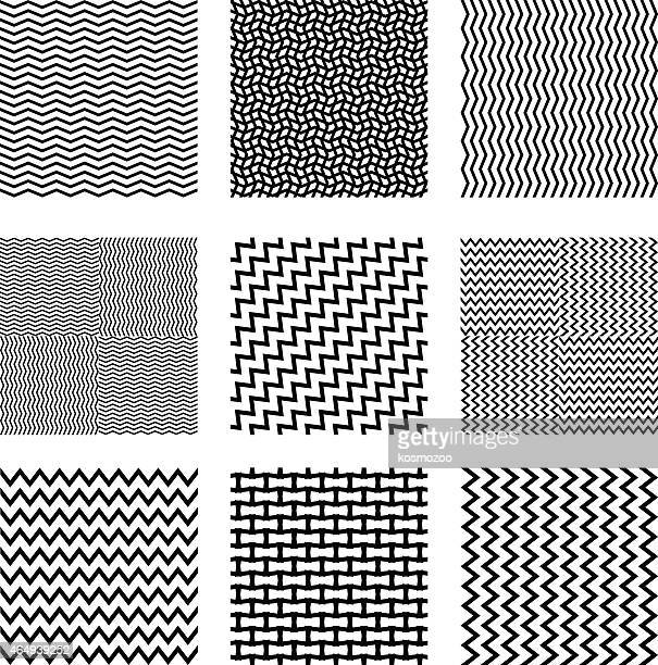 seamless square backgrounds - zigzag stock illustrations, clip art, cartoons, & icons
