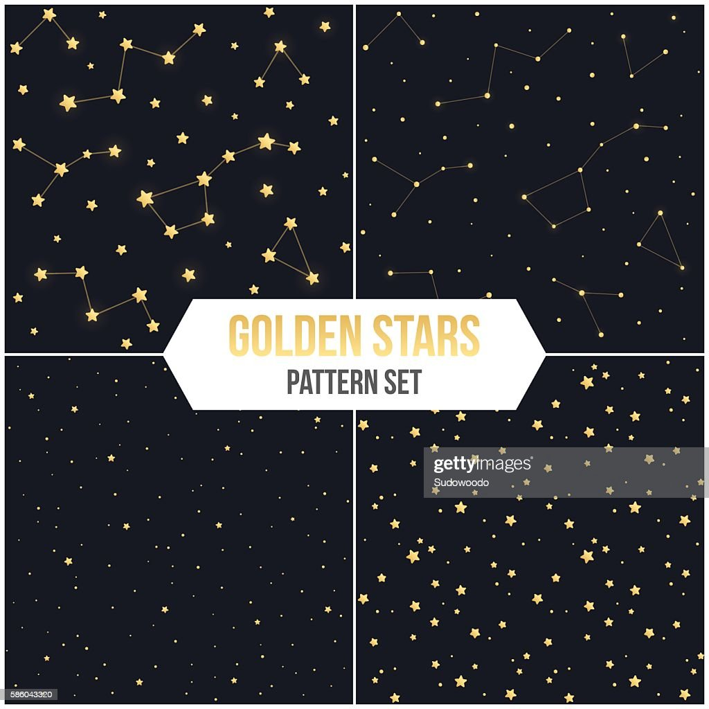 Seamless star pattern set