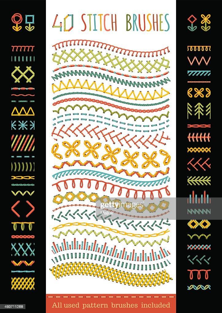 40 seamless stitch brushes.