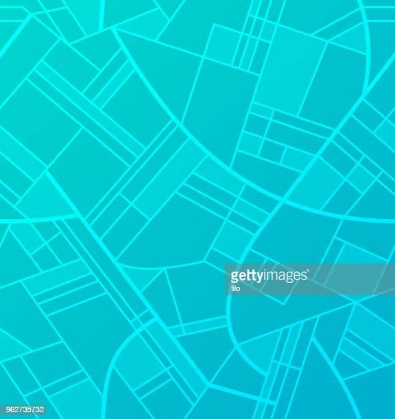 ilustrações, clipart, desenhos animados e ícones de vista da cidade de ruas sem emenda - mapa de rua