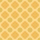 Seamless subtle ethnic pattern on light yellow background