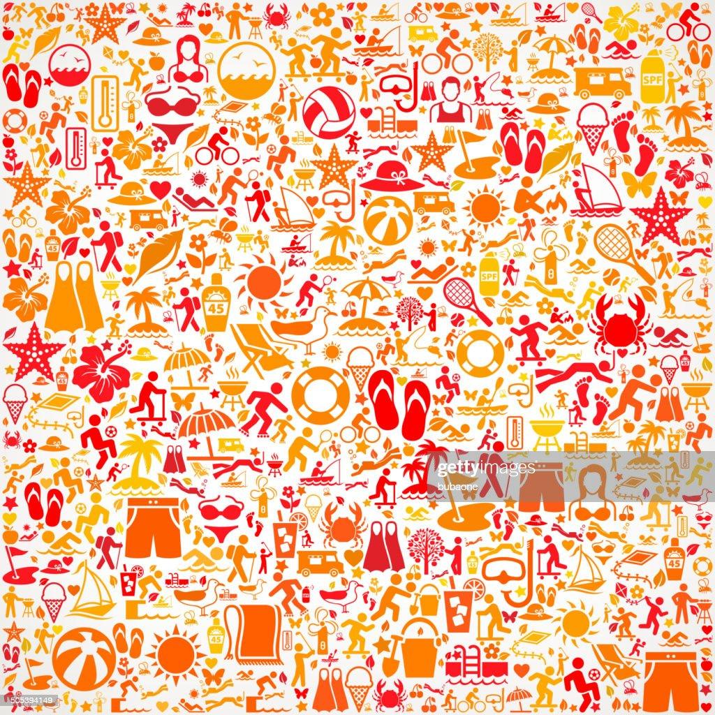 Seamless Sommer lizenzfreie Vektorgrafik Muster : Stock-Illustration