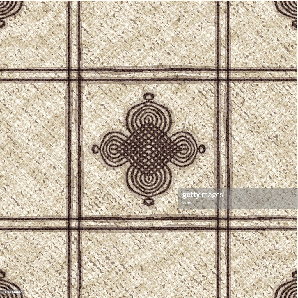 seamless tablecloth with Moroccan motif : stock illustration