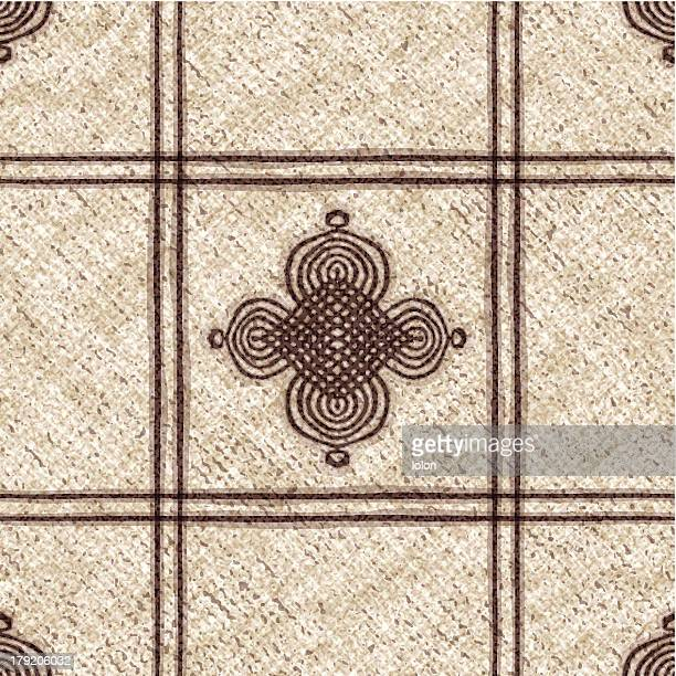 seamless tablecloth with Moroccan motif
