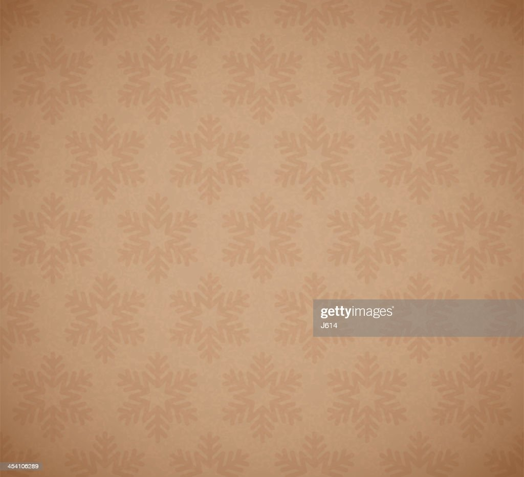 Seamless tan and brown snowflake background