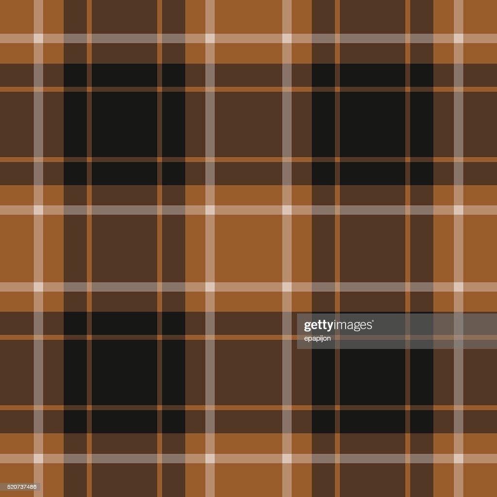 seamless tartan - brown, black and white