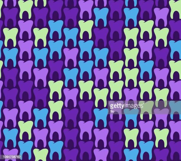 seamless teeth background - molar stock illustrations