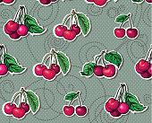 Seamless texture. beautiful delicious cherries, bright berries
