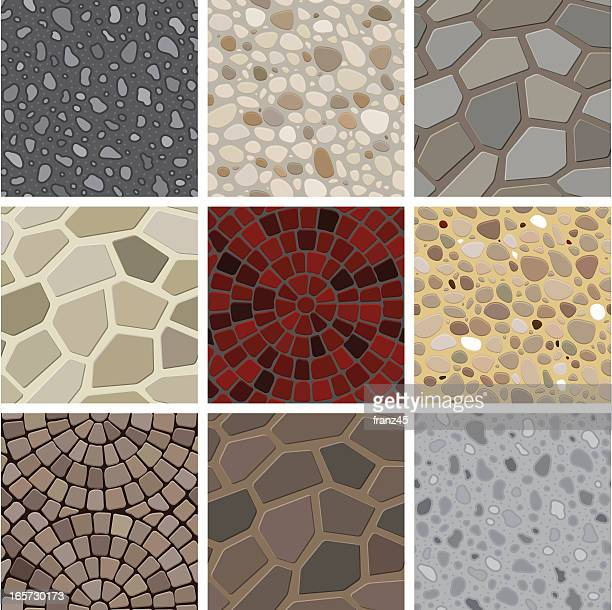 seamless texture - floor decoration - stone material stock illustrations