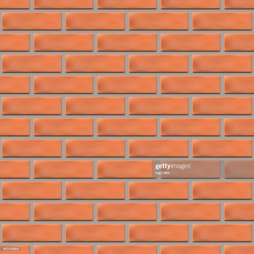 Seamless texture of a brick wall, vector illustration.