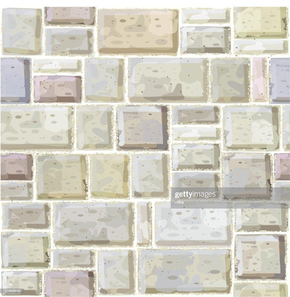 Seamless texture of white stonewall.