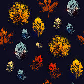 Seamless texture with autumn leaves.