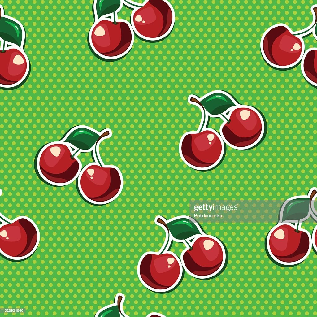 Seamless texture with cherry