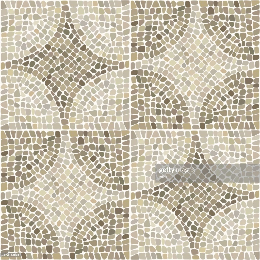 Seamless texture with stones place in curcular pattern.