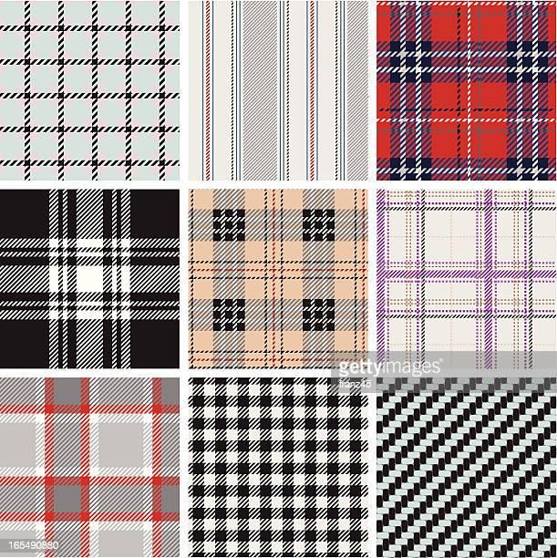 Seamless textured plaid pattern