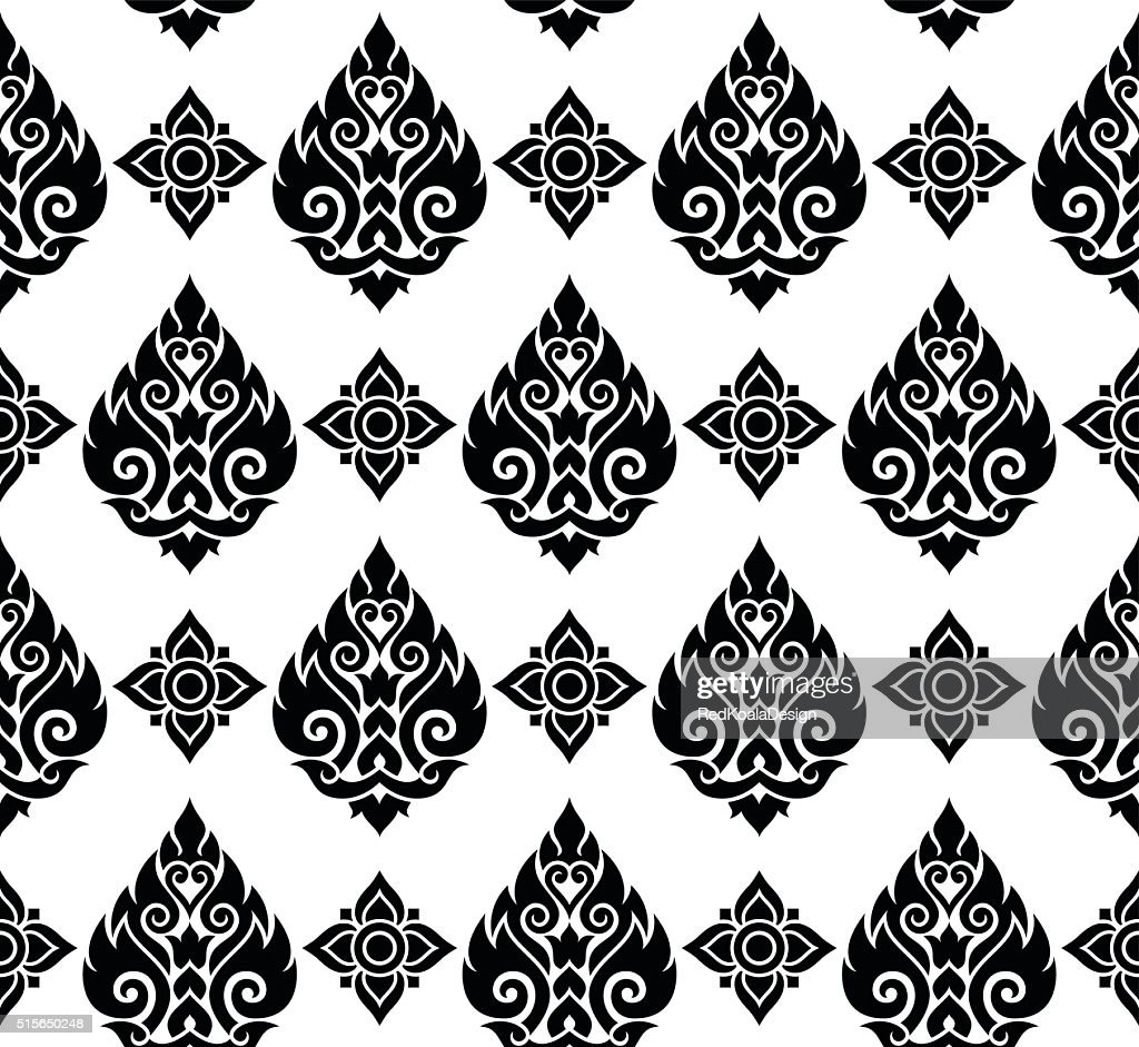 Seamless Thai pattern, repetitive background from Thailand - Lai Thai