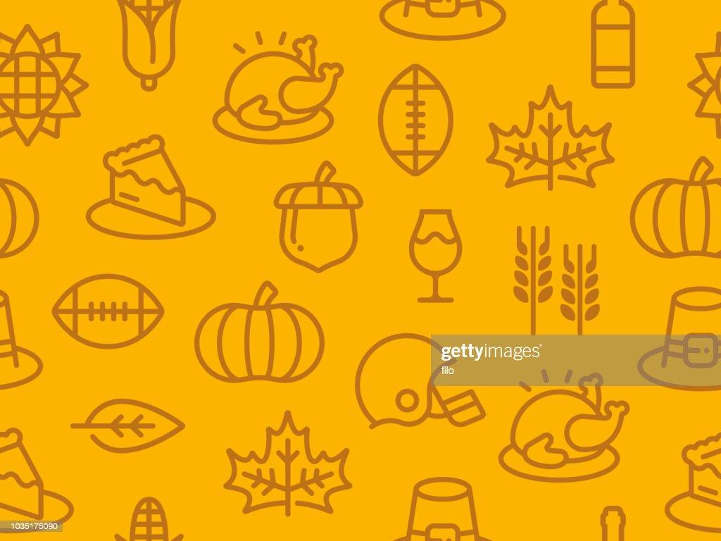 Seamless Thanksgiving Autumn Background : stock illustration